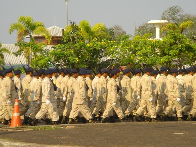 Thai Soldiers Marching