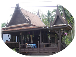Traditional Teak Wood House in Thailand